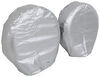 "Adco Tyre Gard RV Wheel Covers - Single Axle - 24"" to 26"" Diameter - Diamond Plate - Qty 2 Wheel Covers 290-3754"