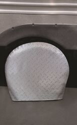 "Adco Tyre Gard RV Wheel Covers - 27"" to 29"" - Vinyl - Diamond Plate - Gray"