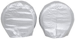 "Adco Tyre Gard RV Wheel Covers - Single Axle - 27"" to 29"" Diameter - Diamond Plate - Qty 2"