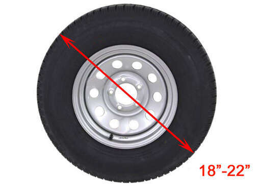 For 30-33 Diameter Tires Classic Accessories OverDrive Black Dual Axle Wheel Cover