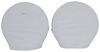 "Adco Ultra Tyre Gard RV Wheel Covers - Single Axle - 24"" to 26"" - Vinyl - White - Qty 2"