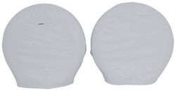 "Adco Ultra Tyre Gard RV Wheel Covers - Single Axle - 27"" to 29"" - Vinyl - White - Qty 2"