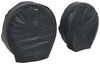 "Adco Ultra Tyre Gard RV Wheel Covers - Single Axle - 18"" to 22"" - Vinyl - Black - Qty 2 Wheel Covers 290-3975"