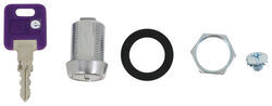 "Replacement Cam Lock Cylinder for RVs - Keyed Alike Option - Stainless Steel - 7/8"" Long"