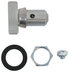 "Replacement Thumb Turn Cam Latch Cylinder - Stainless Steel - 7/8"" Long"