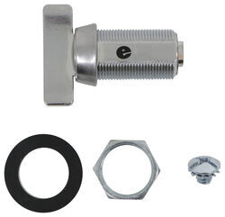 "Replacement Thumb Turn Cam Latch Cylinder - Stainless Steel - 1-1/8"" Long"