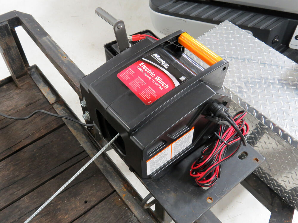 Master Lock Electric Trailer Winch - 2,000 lbs  Master Lock