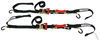 shockstrap ratchet straps trailer truck bed safety hooks tie-down w shock absorbers - 1-1/2 inch x 7' 1 000 lbs qty 2