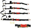 shockstrap ratchet straps trailer truck bed 6 - 10 feet long atv tie-downs w shock absorbers 2 inch x 9' 000 lbs qty 4