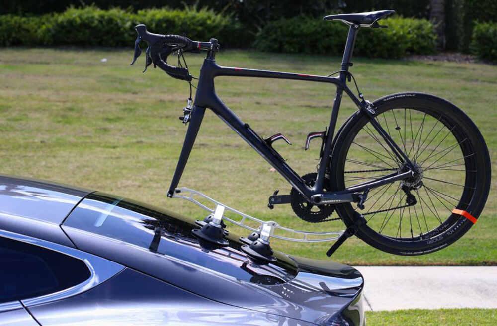 2015 Audi A3 SeaSucker Komodo Trunk Bike Rack - Fork Mount - Vacuum Cup Mounted - Silver