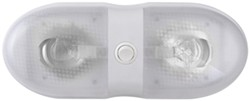 Bargman Double Interior Light with Switch - 76 Series - White Base