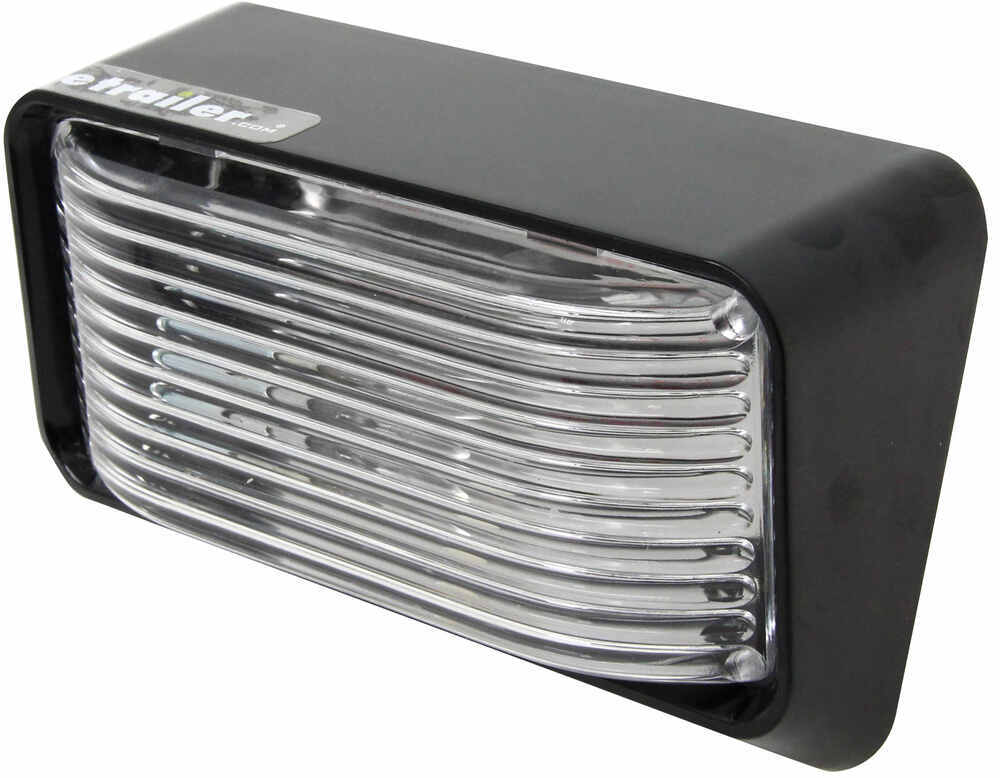 Bargman RV Porch/Utility Light - 78 Series - Rectangle - Black Base - Clear Lens 12V 30-78-522