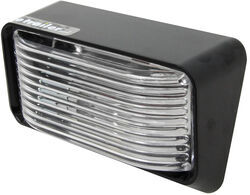 Bargman RV Porch/Utility Light - 78 Series - Rectangle - Black Base - Clear Lens
