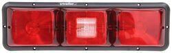 Bargman Recessed, Triple, Long Tail Light w/ Backup - 84 Series - Red - Black Base