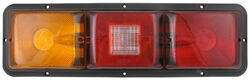 Bargman Recessed, Triple, Long Tail Light w/ Backup - 84 Series - Red and Amber - Horizontal