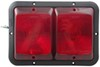 Bargman Recessed, Double Tail Light - 84 Series - Red - Black Base