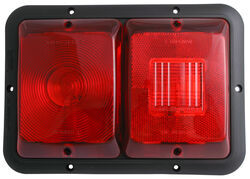 Bargman Recessed, Double Tail Light w/ Marker Light - 84 Series - Red - Black Base