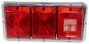 Bargman Triple Tail Light - 84/85 Series - Red, Incandescent Backup w/ Reflex Lens - Chrome Base