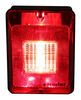Bargman Trailer Backup Light w/ Reflector - Incandescent - Rectangle - Black Base - Red/Clear Lens Rectangle 30-86-103