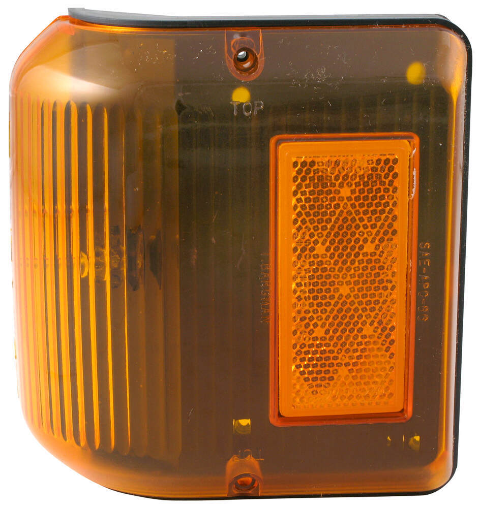 Bargman Wraparound Clearance/Side Marker Light - 86 Series - Amber - Black Base Surface Mount 30-86-203