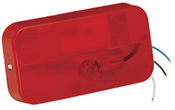 Bargman Surface Mount Tail Light - 92 Series - Red - White Base