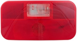 Bargman Surface Mount Tail Light w/ Backup - 92 Series - Red - White Base