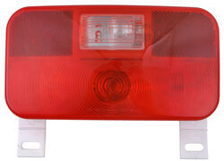 Bargman Surface Mount Tail Light w/ Backup and License Plate Lights - 92 Series - Red - White Base