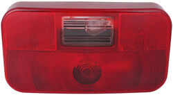 Bargman Surface Mount Tail Light w/ Backup - 92 Series - Red - Black Base