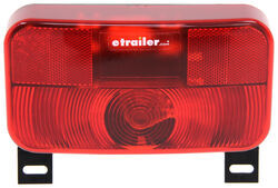 Bargman Surface Mount Tail Light w/ License Plate Light - 92 Series - Red - Black Base