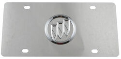 Stainless Steel License Plate Buick Logo Chrome