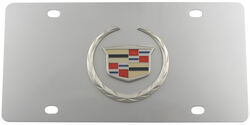 Stainless Steel License Plate Cadillac Logo Chrome