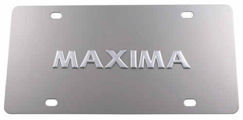 Stainless Steel License Plate Maxima Chrome
