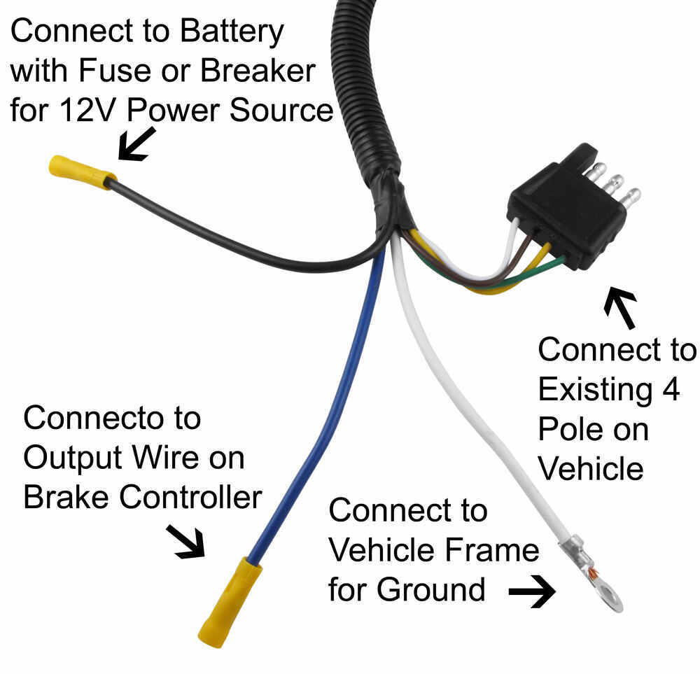 Adapter 4 Pole to 6 Pole Tow Ready Wiring 30637 on