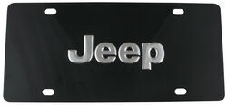 Ebony Finished Stainless Steel License Plate Jeep Chrome