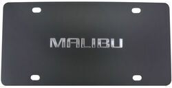 Ebony Finished Stainless Steel License Plate Malibu Chrome