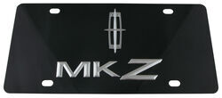 Ebony Finished Stainless Steel License Plate MKZ with Lincoln Logo Chrome