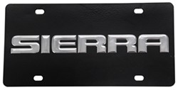 Ebony Finished Stainless Steel License Plate Sierra Chrome
