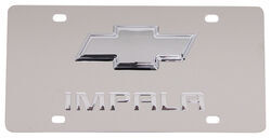 Stainless Steel License Plate Impala with Chrome Chevy Logo