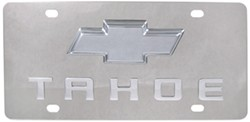 Stainless Steel License Plate Tahoe with Chrome Chevy Logo