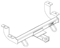 pare curt front mount vs draw tite front etrailer 7X16 Enclosed Trailer Templates drawing of curt from mount trailer hitch receiver