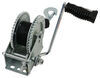 Single-Speed Boat Trailer Winch with 20' Strap and Brake - 2,000 lbs Ratcheting Hand Crank 315-W2000D