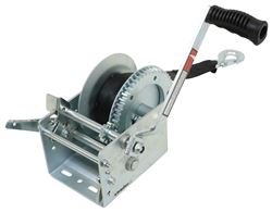 2-Speed Boat Trailer Winch with 20' Strap and Brake - 3,200 lbs