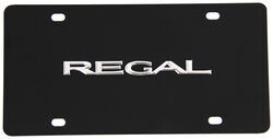 Buick Regal License Plate - Chrome Lettering - Stainless Steel w/ Black Finish