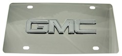 GMC License Plate - Chrome Logo - Stainless Steel w/ Chrome Finish