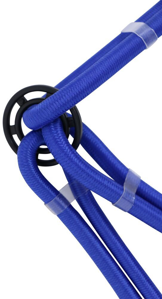 PROGRIP 689804 6-Arm Bungee Cord with Hooks for ATV Truck Rack and Trailer Cargo Tie Down Transport Blue 36 Length x 8mm Diameter 36 Length x 8mm Diameter Blue
