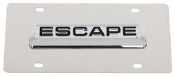 Ford Escape License Plate - Black Emblem - Stainless Steel with Chrome Finish