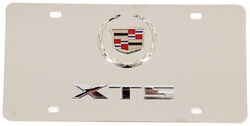 Cadillac XTS License Plate - Chrome Logo and Lettering - Stainless Steel w/ Chrome Finish