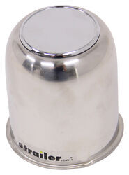 "Trailer Wheel Center Cap, Stainless Steel, 3.19"" Pilot Size"
