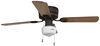 "42"" Hugger Ceiling Fan for RVs - Schoolhouse Light - Black/Oak Blades - Rubbed Bronze - 120V Black/Oak Blades 324-000036"