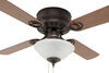 "42"" Ceiling Fan for RVs - Dish Style Light Kit - Cherry/Oak Blades - Oil Rubbed Bronze - 120V Dish Style Light 324-000044"